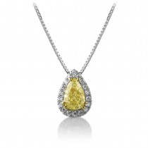 Yellow Diamond Pear Pendant