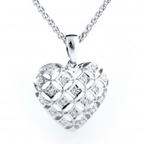 Puff Heart Diamond Pendant