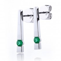 Emerald Bar Earrings