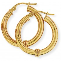 Polished and Twisted Hoops