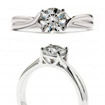 Simply Bridal Twist Solitaire
