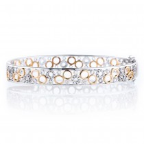 Multi-Circle Diamond Bangle