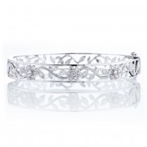 Floral Filagree Bangle