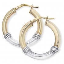 Two-tone Fancy Hoops