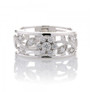 Diamond Floral Dress Ring