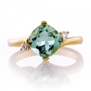 Green Amethyst Ring