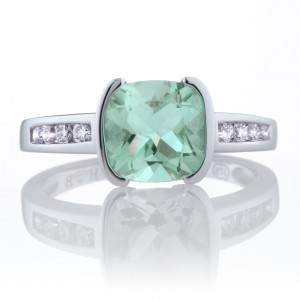 Green Amethyst Dress Ring