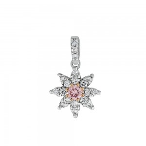 Pink Diamond Star Pendant