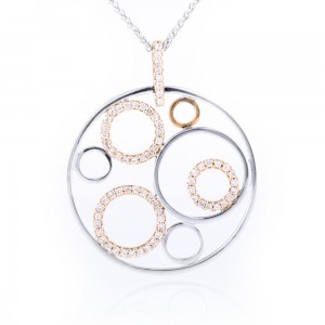 Diamond Set Circle Pendant