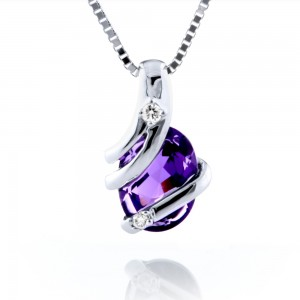 Amethyst Wrap Around Pendant