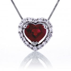 Heart Shape Ruby Pendant