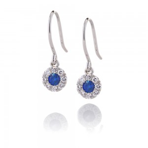 Sapphire Cluster Drops