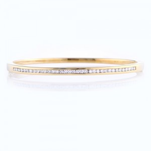 Channel Set Diamond Bangle