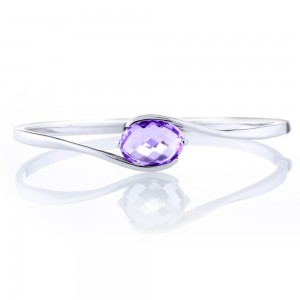 Briolette Amethyst Bangle