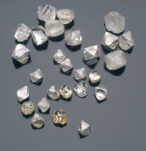Natural diamond crystals