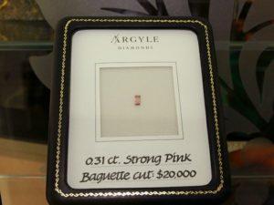 0.31ct Baguette Cut Pink