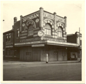 Windsor shop boarded up in 1943
