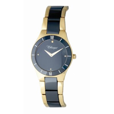 Gold and Ceramic Watch