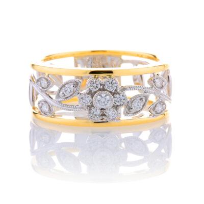 Diamond Floral Dress Ring