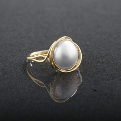 Round Mabe Pearl Ring
