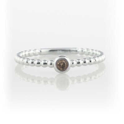 Solitaire ball style ring