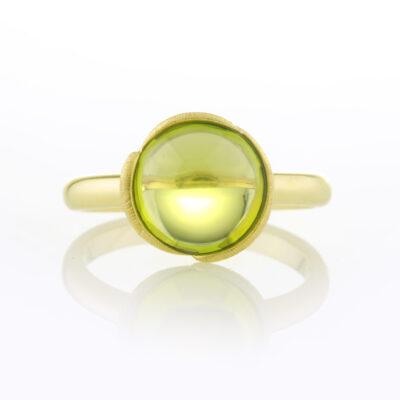 Peridot Lily Ring