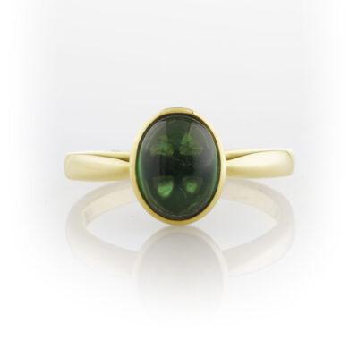 Green toumaline ring