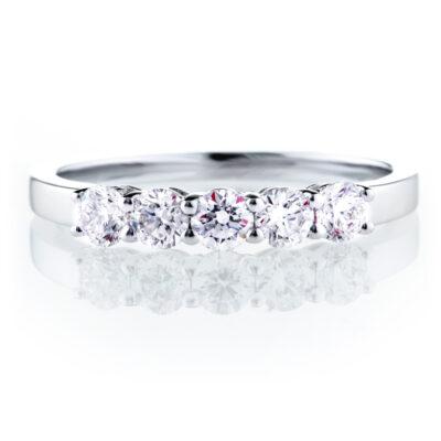 Five Stone Eternity Ring