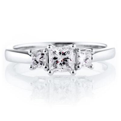 Trilogy Princess Diamond Ring