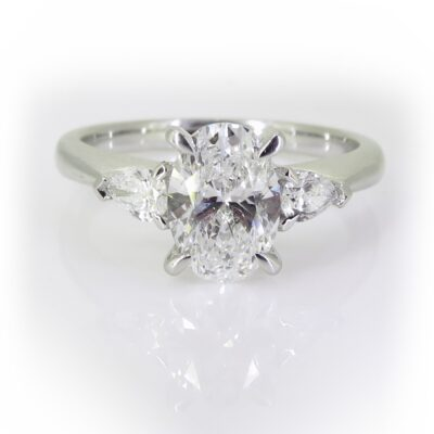 Oval and Pear Trilogy Ring