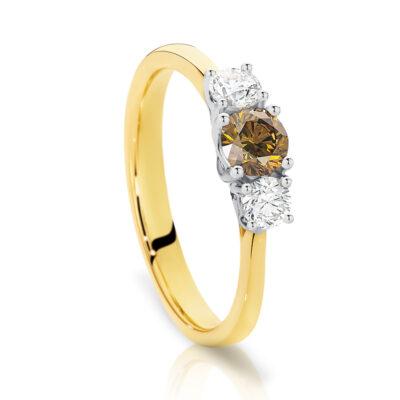 Chocolate Diamond Trilogy Ring