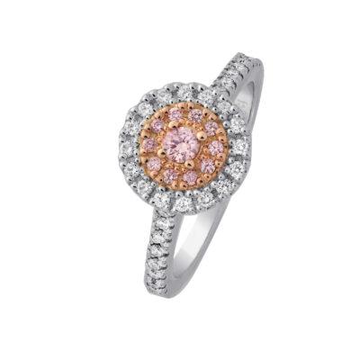 Pink Diamond Fancy Cluster