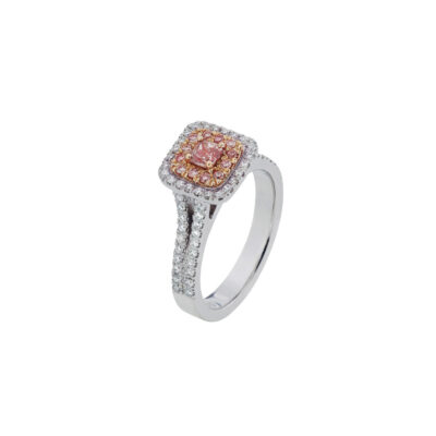 Pink Diamond Cushion Cluster