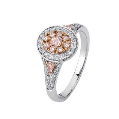 Oval Pink Diamond Cluster