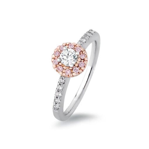 Reverse Pink Diamond Halo