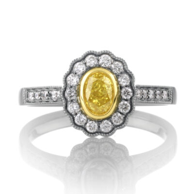 Yellow Diamond Floral Cluster