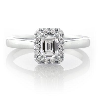 Emerald Cut Cluster Ring