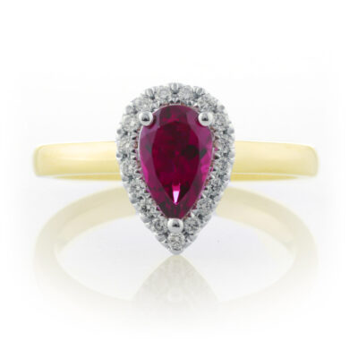 Pear Tourmaline Cluster Ring
