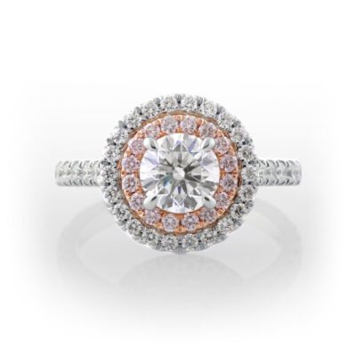Round Double Halo Ring