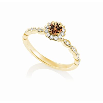 Floral Chocolate Diamond Ring