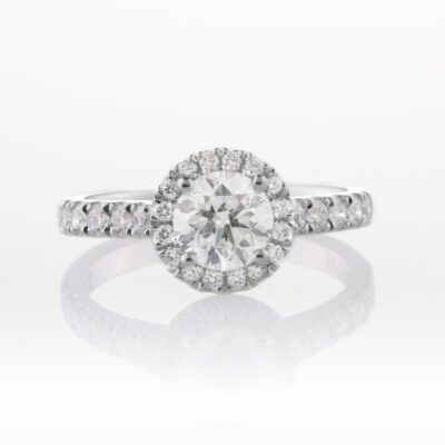 Halo Cluster Engagement Ring