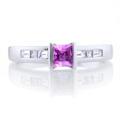 Channel Set Pink Sapphire