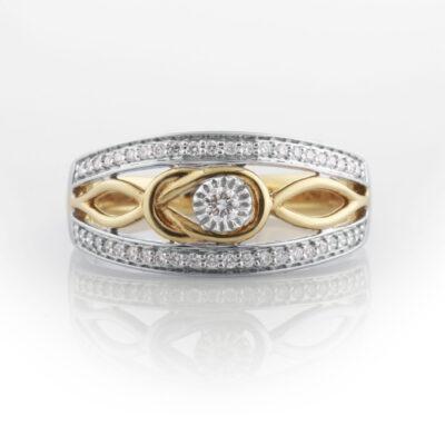 Woven diamond dress ring