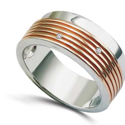 Two-Tone Band With Groves