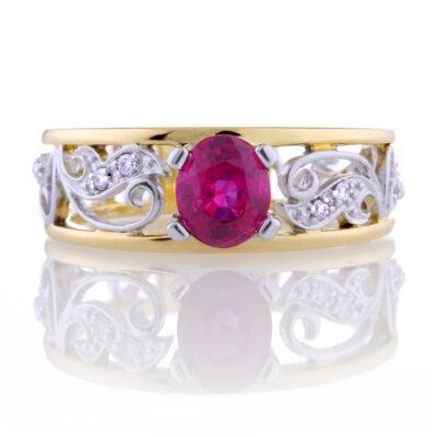 Ruby Filagree Ring