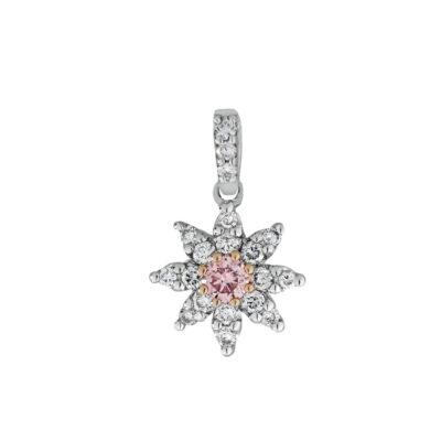 Pink Diamond Star Pendant