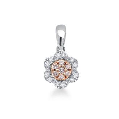 Floral Pink Diamond Pendant