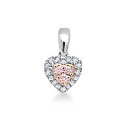 Pink Diamond Heart Pendant