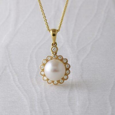 Floral Pearl Pendant
