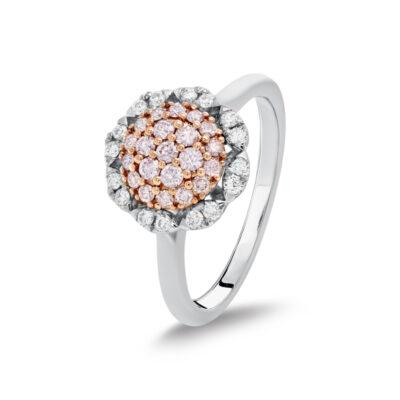 Multi Halo Pink Diamond Ring